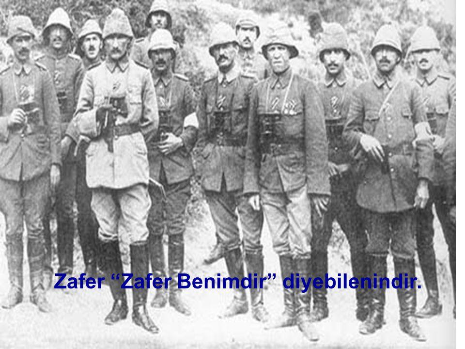 ÇANAKKALE SAVAŞI'NIN SONUÇLARI •Osmanlı Devleti I. Dünya Savaşında sadece bu cephede başarılı olarak tarihinin en büyük savunma savaşını kazanmış oldu