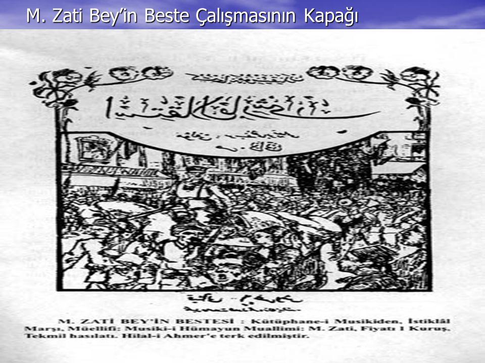 M. Zati Bey'in Beste Çalışmasının Kapağı