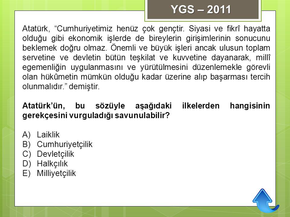 """Atatürk, """"Cumhuriyetimiz henüz çok gençtir. Siyasi ve fikrî hayatta olduğu gibi ekonomik işlerde de bireylerin girişimlerinin sonucunu beklemek doğru"""