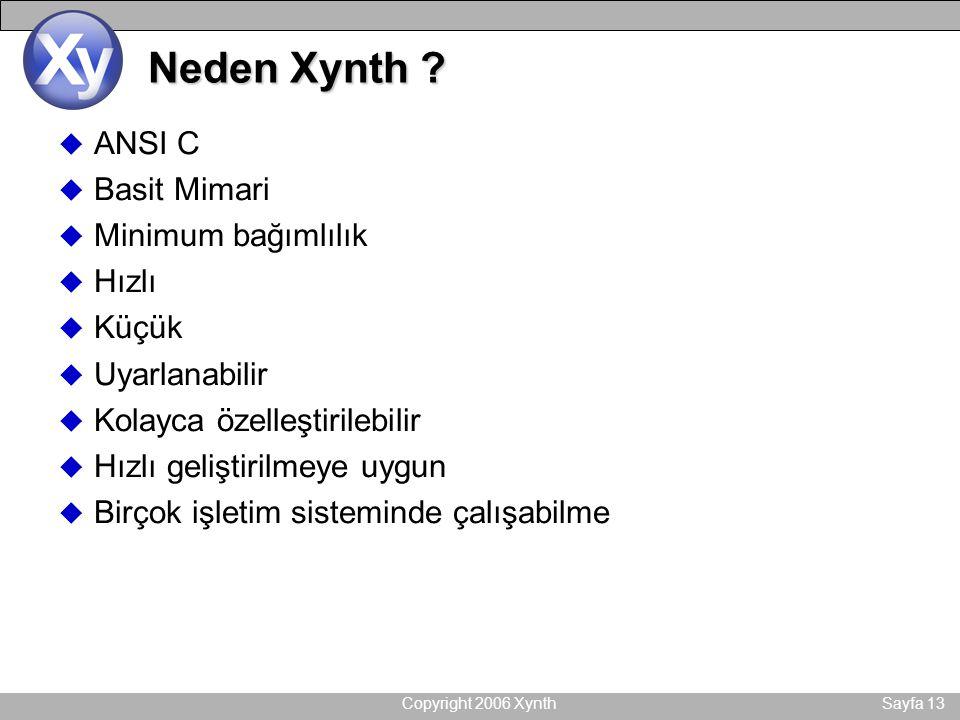 Copyright 2006 XynthSayfa 13 Neden Xynth .