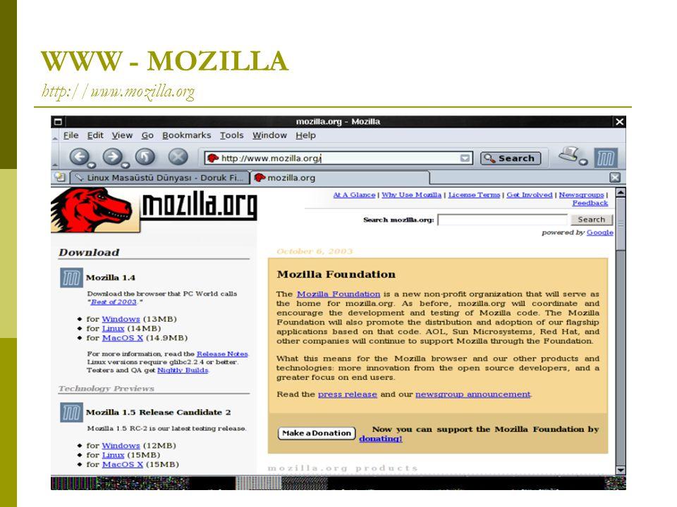 WWW - MOZILLA http://www.mozilla.org
