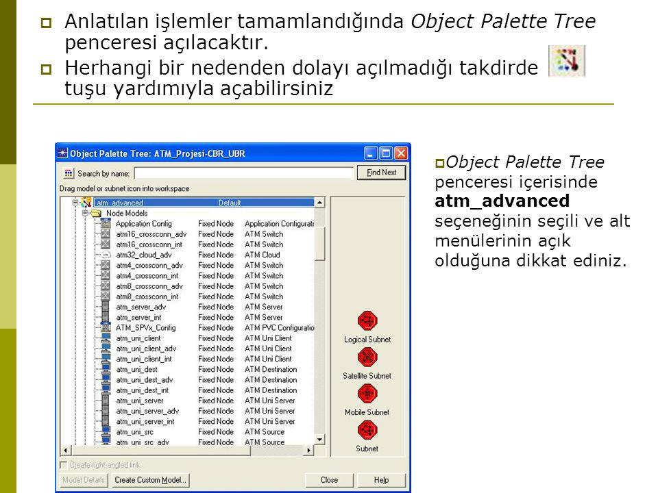  Anlatılan işlemler tamamlandığında Object Palette Tree penceresi açılacaktır.