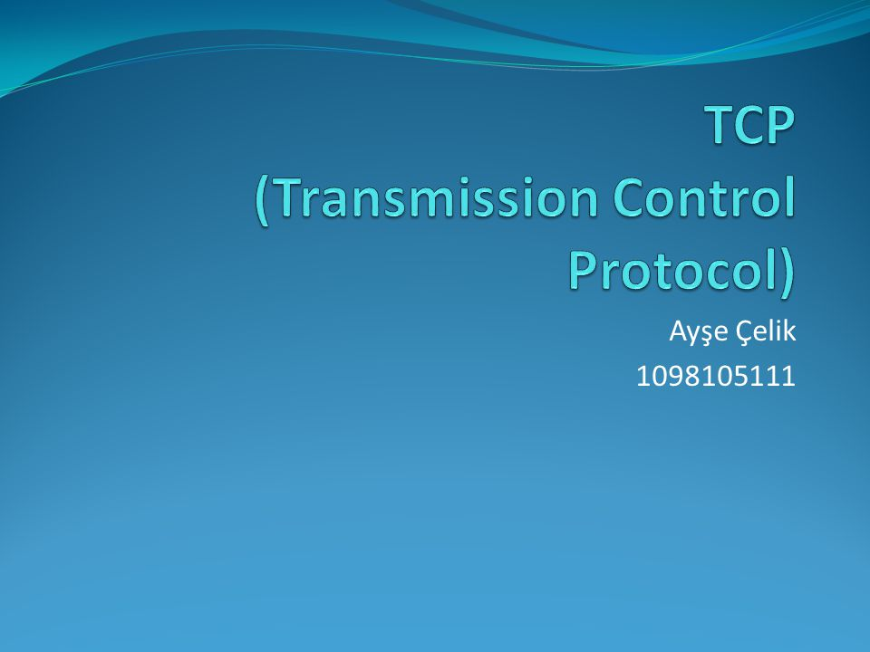 Tekrar Gönderme Zamanı  TCP protokolünün, başarımını önemli ölçüde arttıran ya da azaltan parametresi, yeniden gönderim zamanıdır.