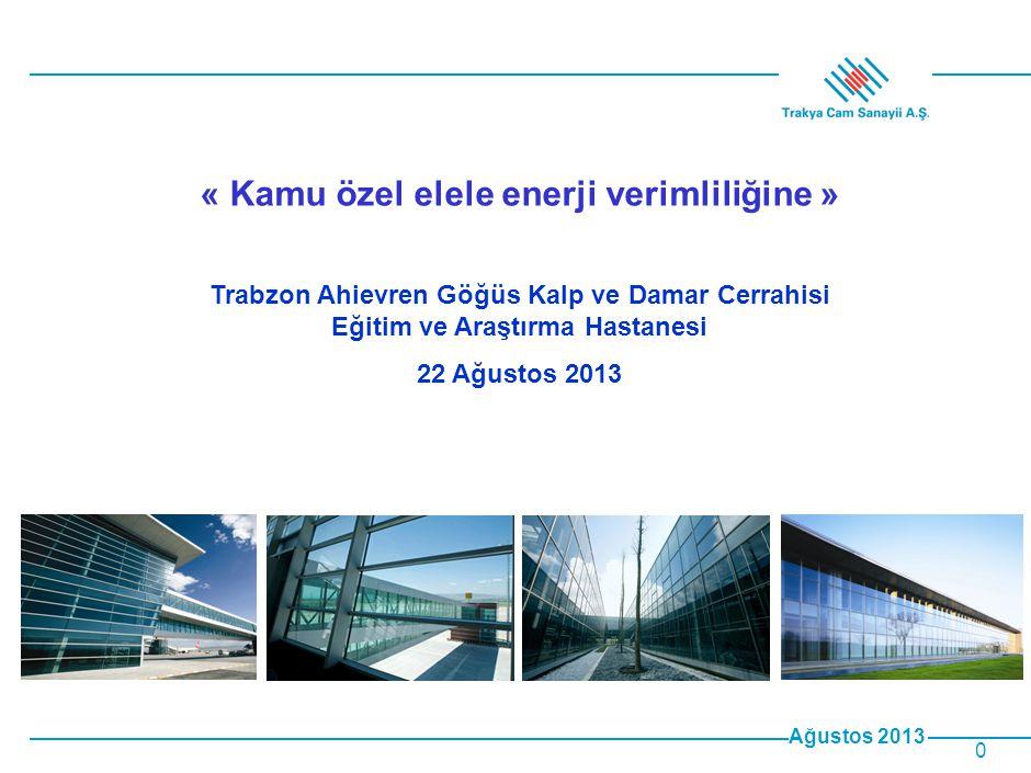 Ağustos 2013 11 •Türkiye'deki mevcut konut camlarının tamamının Isıcam Konfor'a dönüşmesi durumunda bir yılda sağlanacak ısıtma enerjisi tasarrufu yaklaşık 2,5 milyar $' dır.