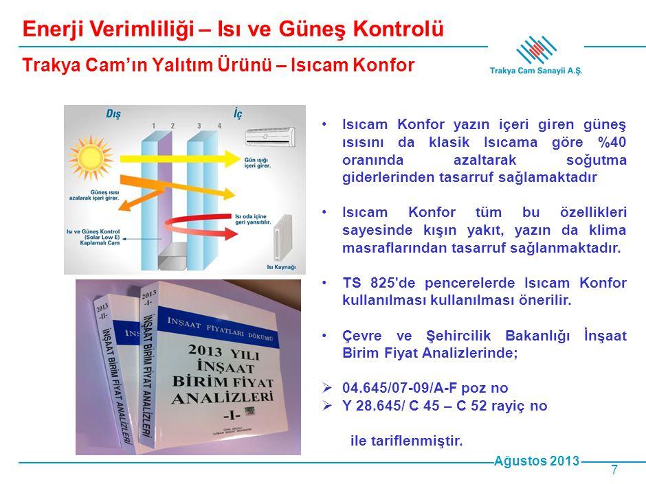 Ağustos 2013 8 Isıcam Konfor ile Elde Edilecek Kazançlar Trabzon Ahievren Hastanesi'nde yapılması tavsiye edilen iyileştirmeler ile ilgili Gürışık Enerji Verimliliği ve Yönetimi Danışmanlık Ltd.