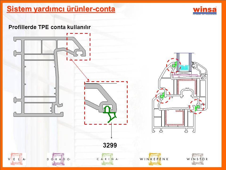 Profillerde TPE conta kullanılır 3299 Sistem yardımcı ürünler-conta