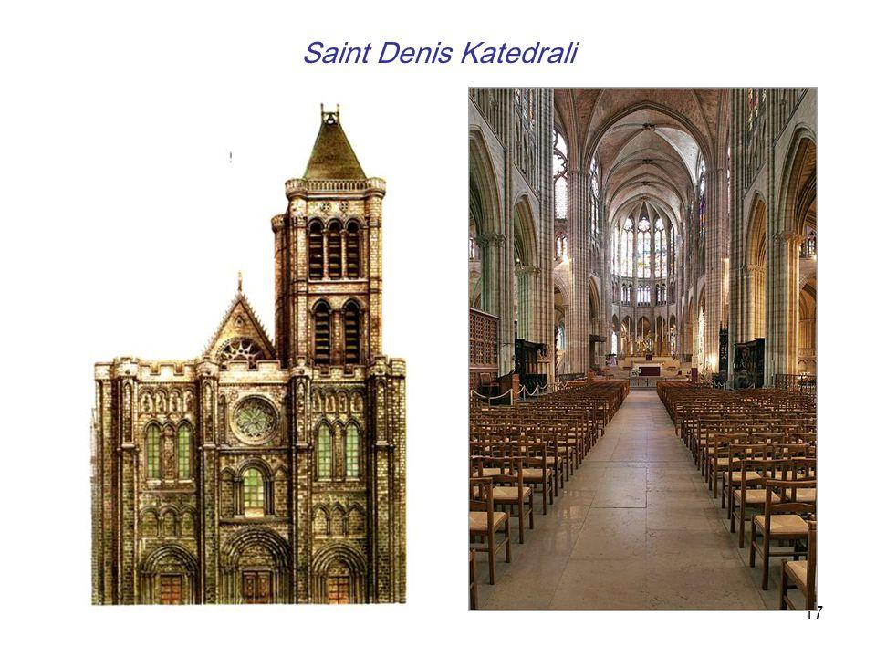 18 -Salisbury Katedrali, (İngiltere/ 1220-58 ) Diğer Gotik kent kiliselerine göre daha fazla açık alan sahipti.