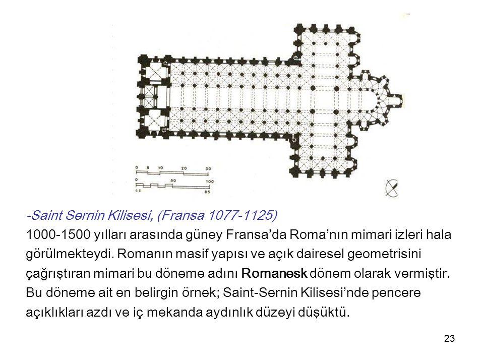 24 Sivil Mimari Örnekleri: Konut İlk kentler manastırların çevrelerinde gelişti.