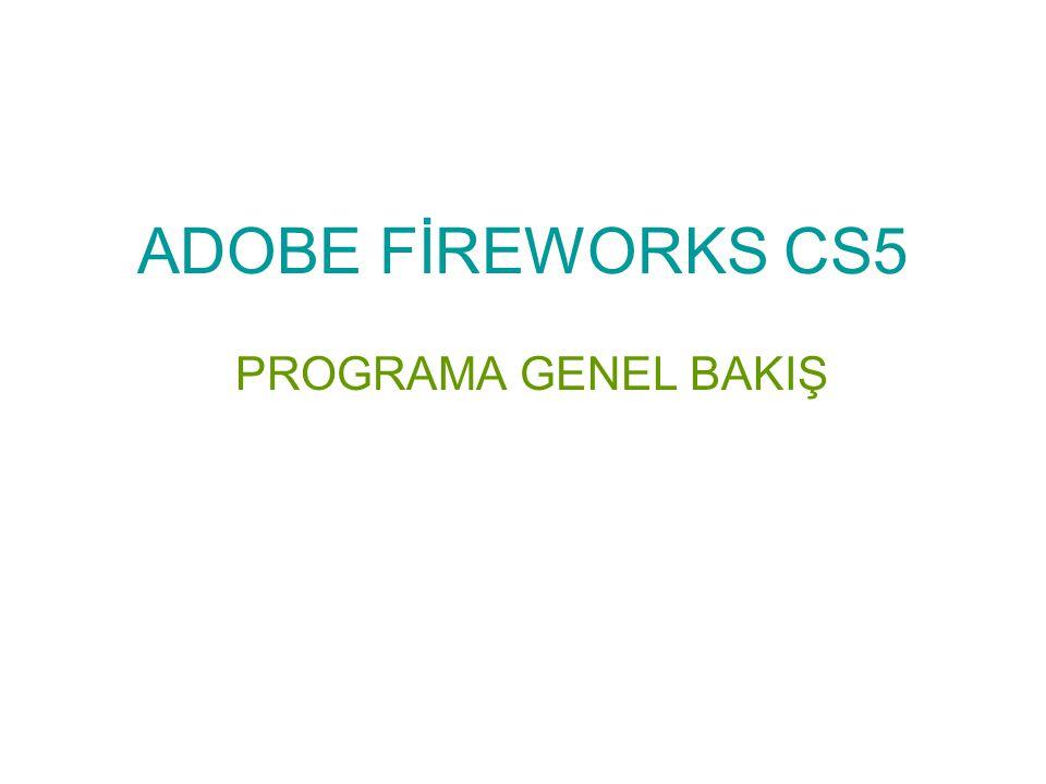 Fireworks programını çalıştırmak için Başlat menüsüne tıklanır programlar seçeneği seçilir.