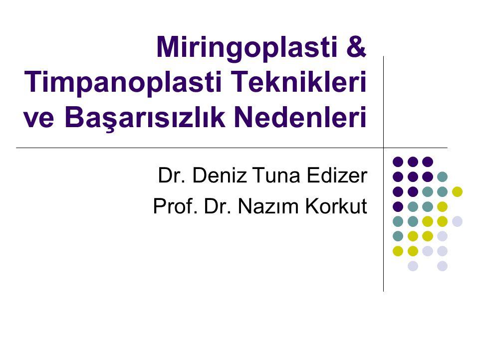 Miringoplasti & Timpanoplasti Teknikleri ve Başarısızlık Nedenleri Dr.
