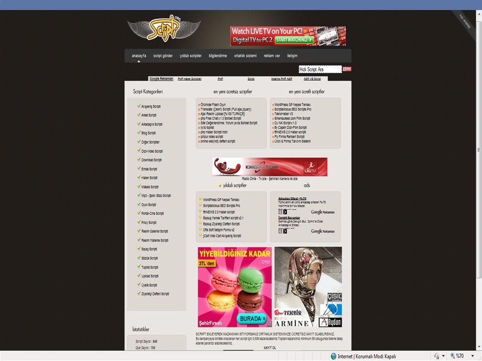  İndeks web sayfasından çoğaltılan diğer web sayfaları ise yeniden adlandır ile adlarını yazıyoruz.