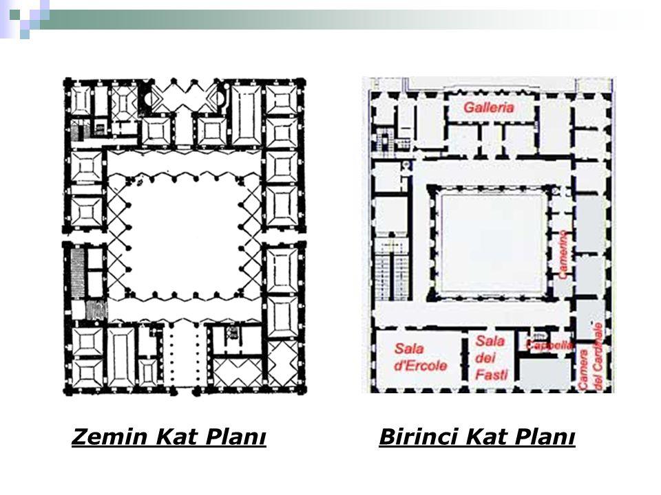 Zemin Kat PlanıBirinci Kat Planı