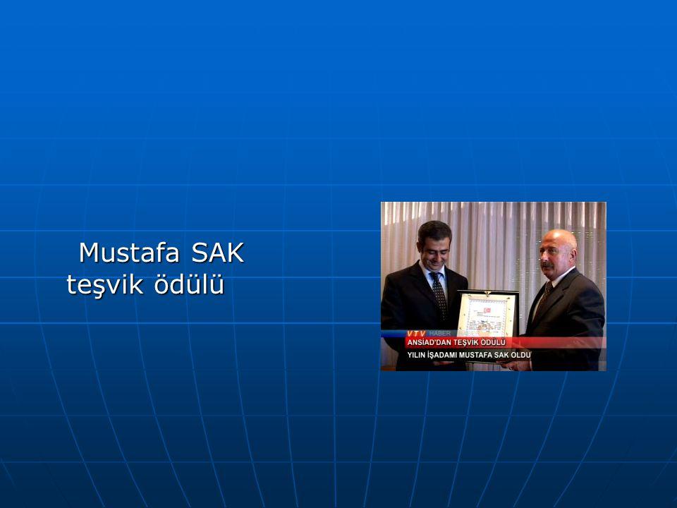Mustafa SAK teşvik ödülü Mustafa SAK teşvik ödülü