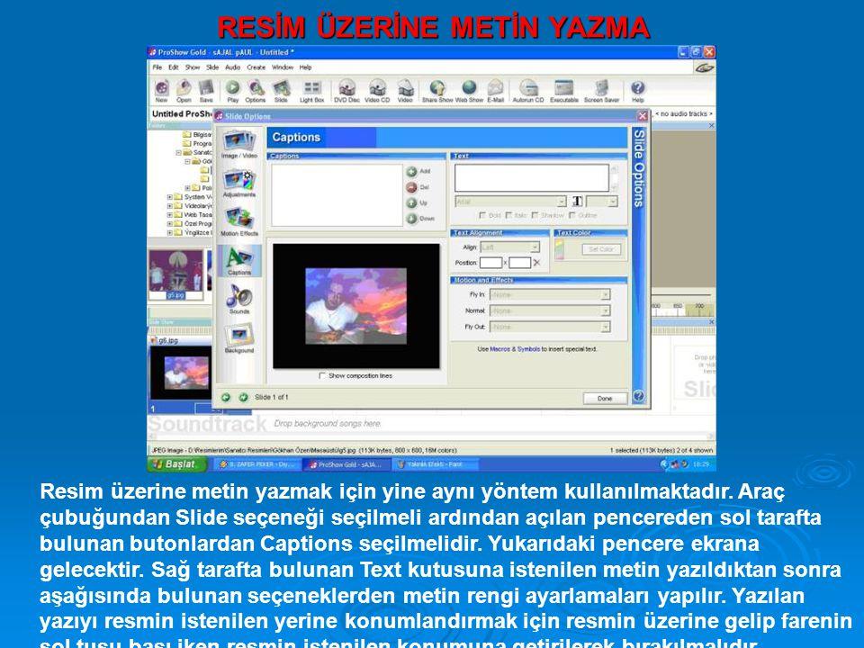 DOSYAMIZI VİDEO FORMATINDA KAYDETMEK Dosyamızı Video formatında kaydetmek için Yukarıda bulunan standart araç çubuğundan Video sekmesi seçilmelidir.