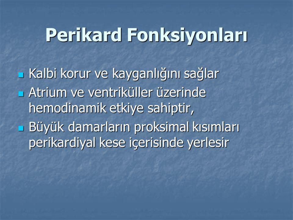 Perikardın konjenital defektleri  Perikardın konjenital defektleri otopsi olgularının 1/ 10000'inde rastlanır.