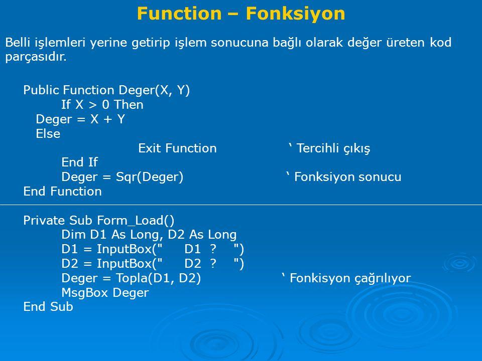 1) Referans ile fonksiyon çağırmak : Fonksiyon içerisinde değeri değişen değişkenin bu değeri saklamasını sağlar.