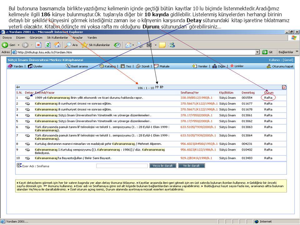 DETAY SAYFASI Detay sayfasından liste sayfasına geri dönüş yapmak için geri ok tuşuna basmamız yeterli olacaktır.