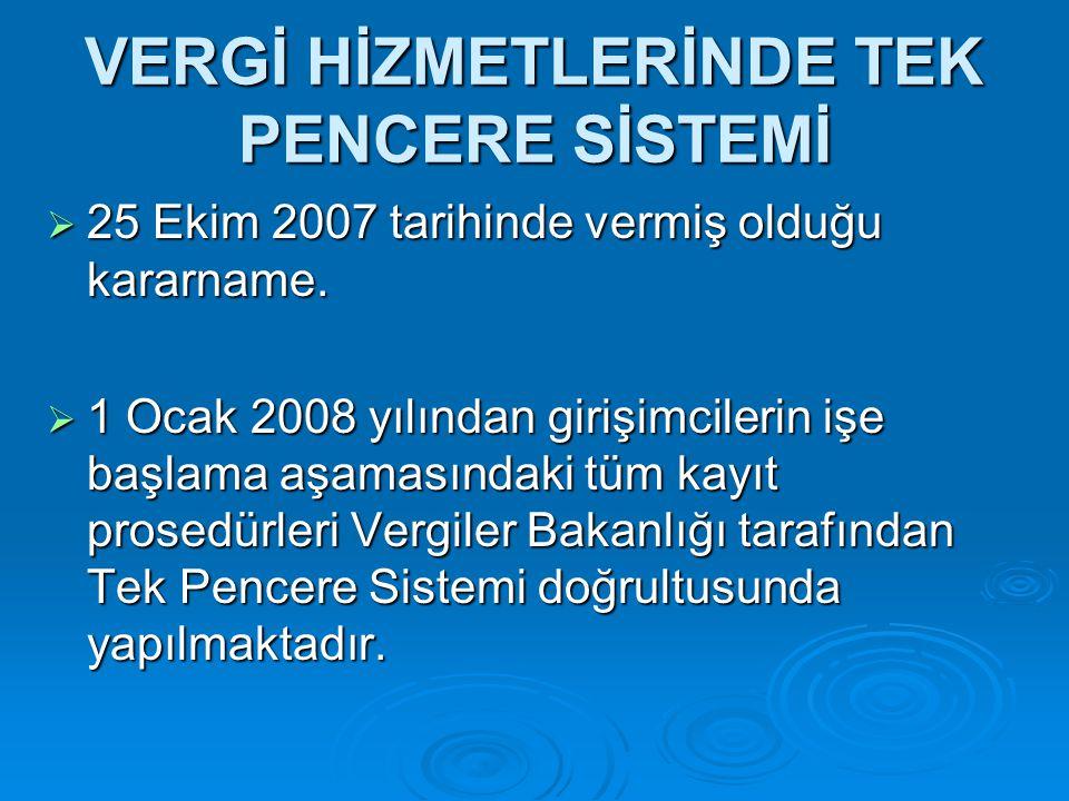 """""""TEK PENCERE"""" SİSTEMİ"""