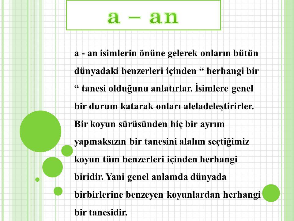 C ) Özel isimler kesinlikle the almazlar the Linda the Tom the Ankara the Konya olamaz...