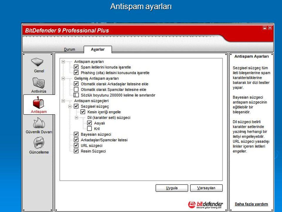 Antispam ayarları