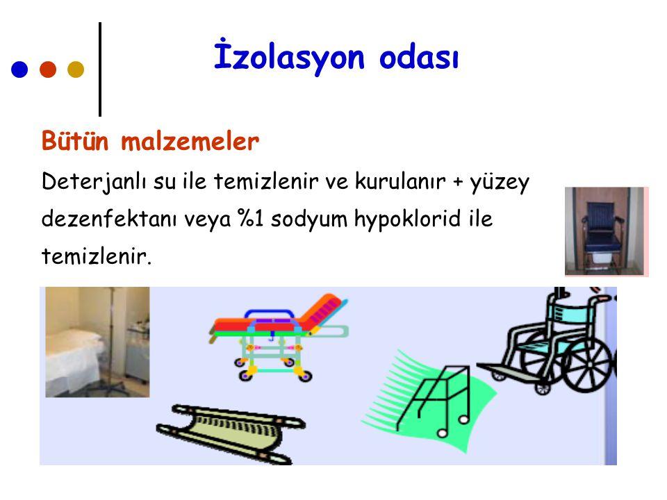 İzolasyon odası Şilteler, Yastıklar Plastik koruyucu kullanılır.