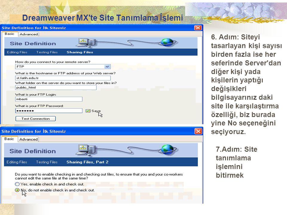 6. Adım: Siteyi tasarlayan kişi sayısı birden fazla ise her seferinde Server'dan diğer kişi yada kişilerin yaptığı değişikleri bilgisayarınız daki sit