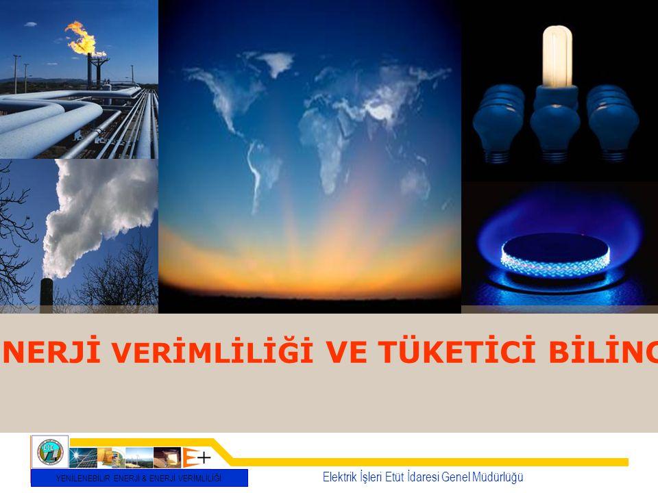 Elektrik İşleri Etüt İdaresi Genel Müdürlüğü YENİLENEBİLiR ENERJİ & ENERJİ VERİMLİLİĞİ ENERJİ VERİMLİLİĞİ VE TÜKETİCİ BİLİNCİ