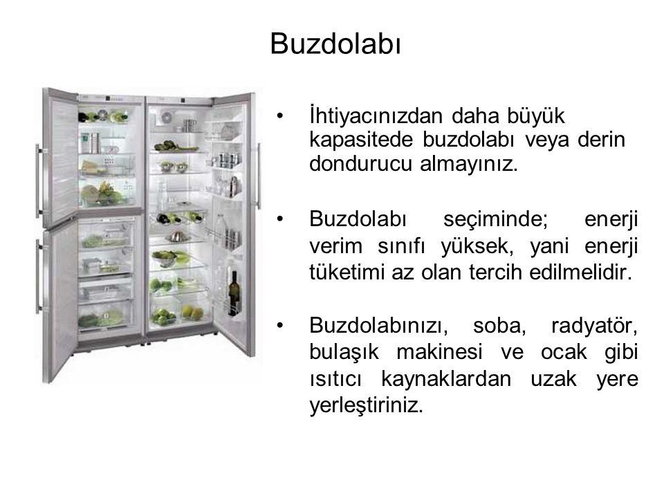 •İhtiyacınızdan daha büyük kapasitede buzdolabı veya derin dondurucu almayınız.