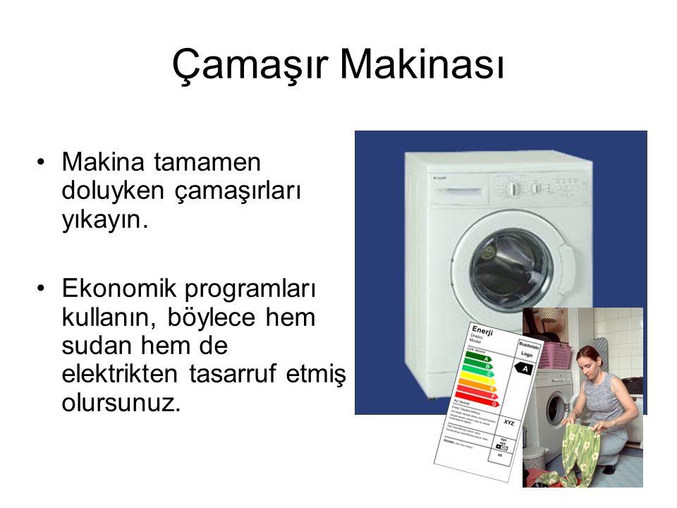 •Makina tamamen doluyken çamaşırları yıkayın.
