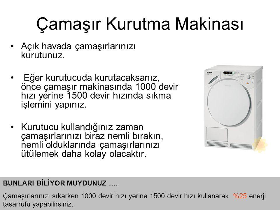 •Açık havada çamaşırlarınızı kurutunuz.