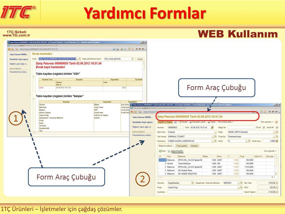 Form Araç Çubuğu 2 1 Yardımcı Formlar