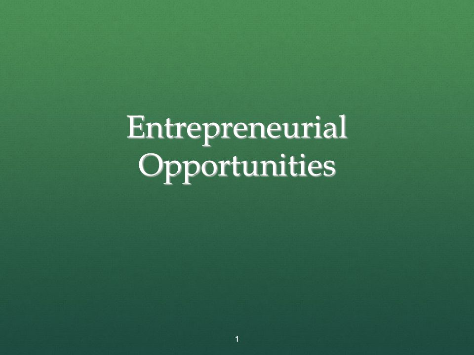Full View of the Opportunity Recognition Process Depicts the connection between an awareness of emerging trends and the personal characteristics of the entrepreneur