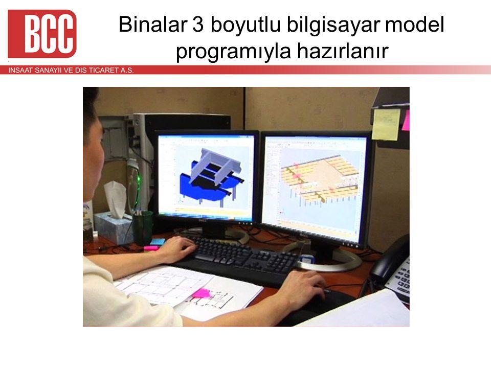 Binalar 3 boyutlu bilgisayar model programıyla hazırlanır