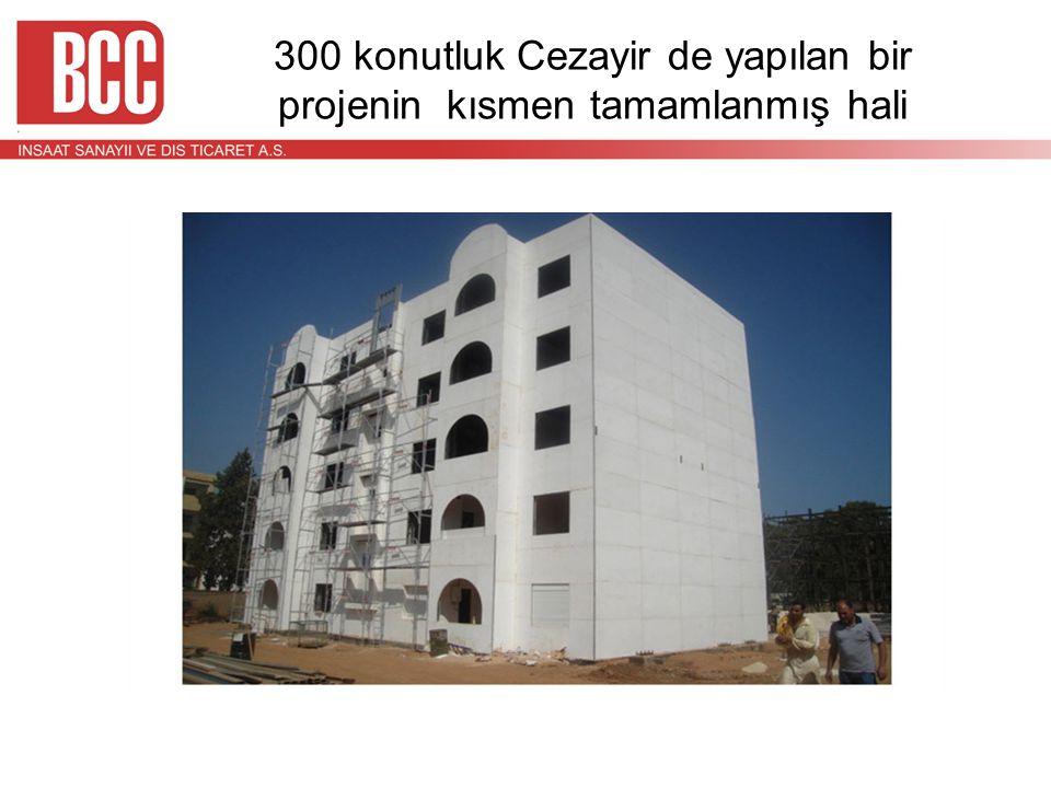 300 konutluk Cezayir de yapılan bir projenin kısmen tamamlanmış hali