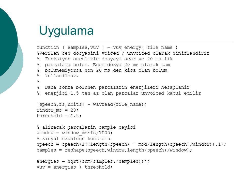 HMM – Training Baum Welch  Algoritma rasgele bir değerle başlatılır  t zamanında j durumunda olacak, O 1, O 2, … O t çıktı sırasının olasılığını hesaplar (forward probabilities)