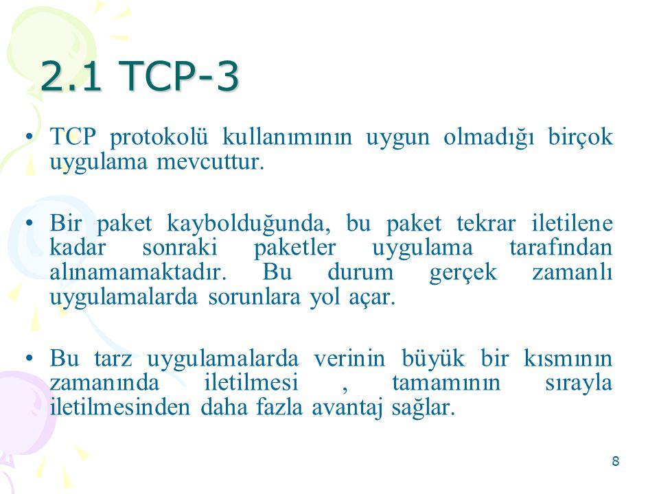 9 2.2 UDP-1 •UDP kullanılarak network üzerindeki bilgisayarlardaki programlar birbirlerine datagram olarak ifade edilen küçük paketleri gönderirler.