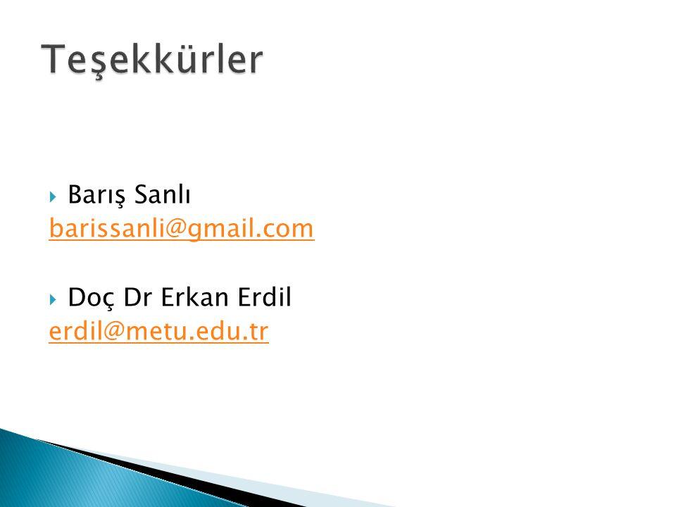  Barış Sanlı barissanli@gmail.com  Doç Dr Erkan Erdil erdil@metu.edu.tr