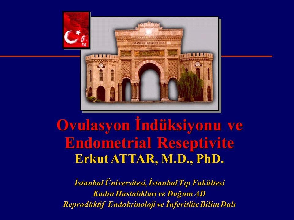 Amaçlar  Endometrial Reseptivite ve İmplantasyon Penceresi  Morfolojik Özellikler  Biokimyasal Özellikler  Klinik özellikler  Fertilite ilaçlarının etkisi  ART programlarında reseptivite artırılabilir mi?