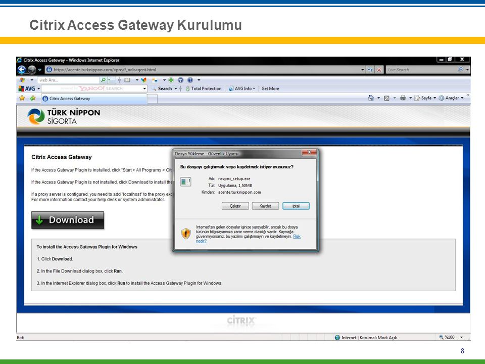 8 Citrix Access Gateway Kurulumu