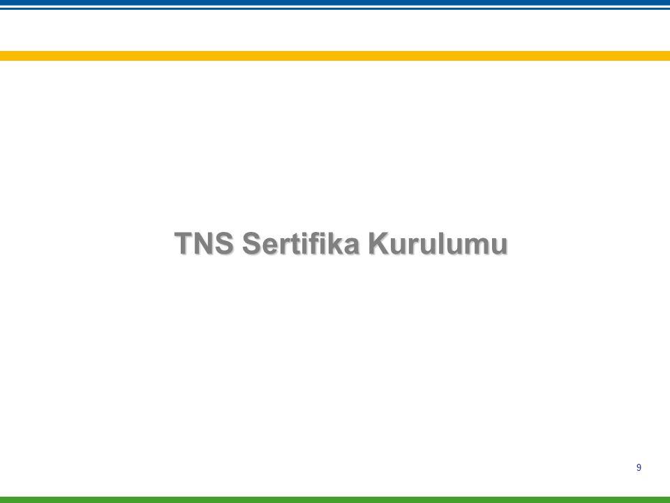 9 TNS Sertifika Kurulumu