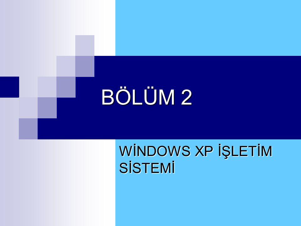 2.9 Başlat - Programlar Menüsü 2.DONATILAR – B. Sistem Araçları II.