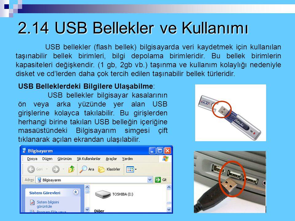 2.13 Cd'ler ve Cd Kullanımı Bundan sonra CD içerisindeki bilgiyi görebilmek için masaüstündeki Bilgisayarım simgesi çift tıklatılarak Bilgisayarım pen