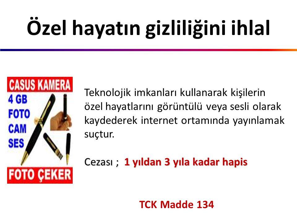 TCK Madde 125/2 İnternet ortamında yapılan her türlü kötü söz ve davranış hakarettir. Cezası ;3 aydan 5 yıla kadar hapis Hakaret