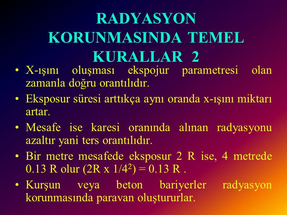 RADYASYON KORUNMASINDA TEMEL KURALLAR 1 •1.Asemptomatik hastalarda rutin amaçlı tetkiklerden kaçınmak •2.