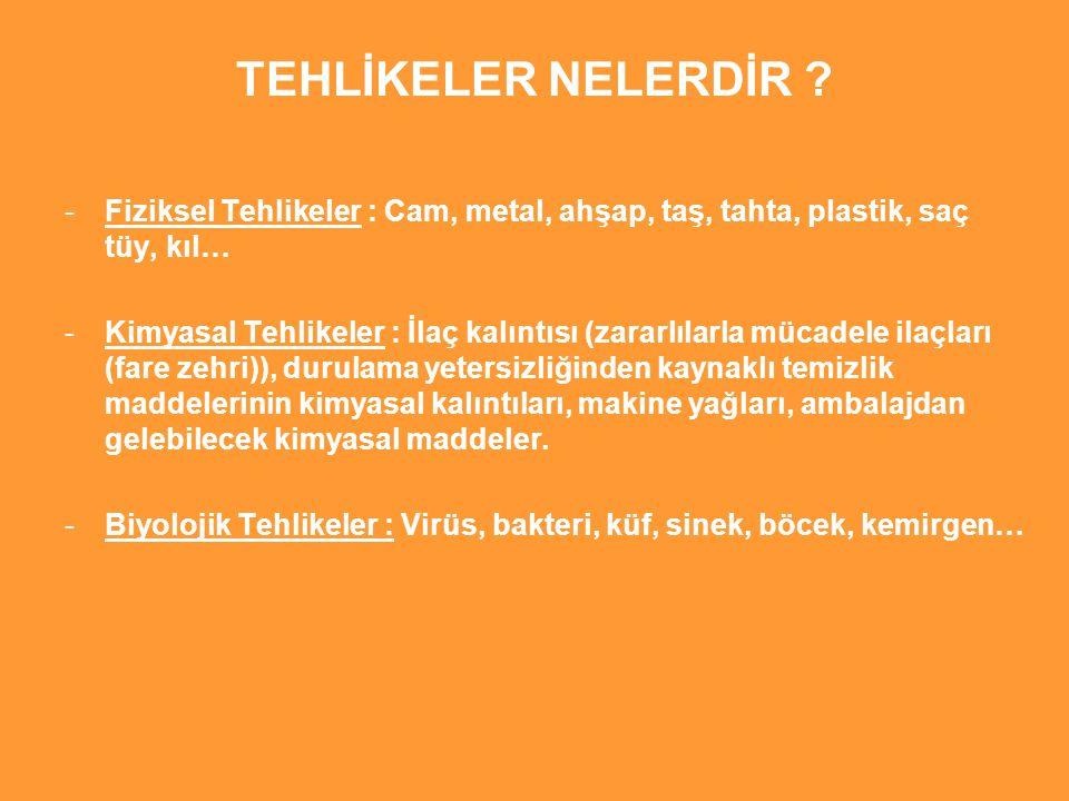 TEHLİKELER NELERDİR .