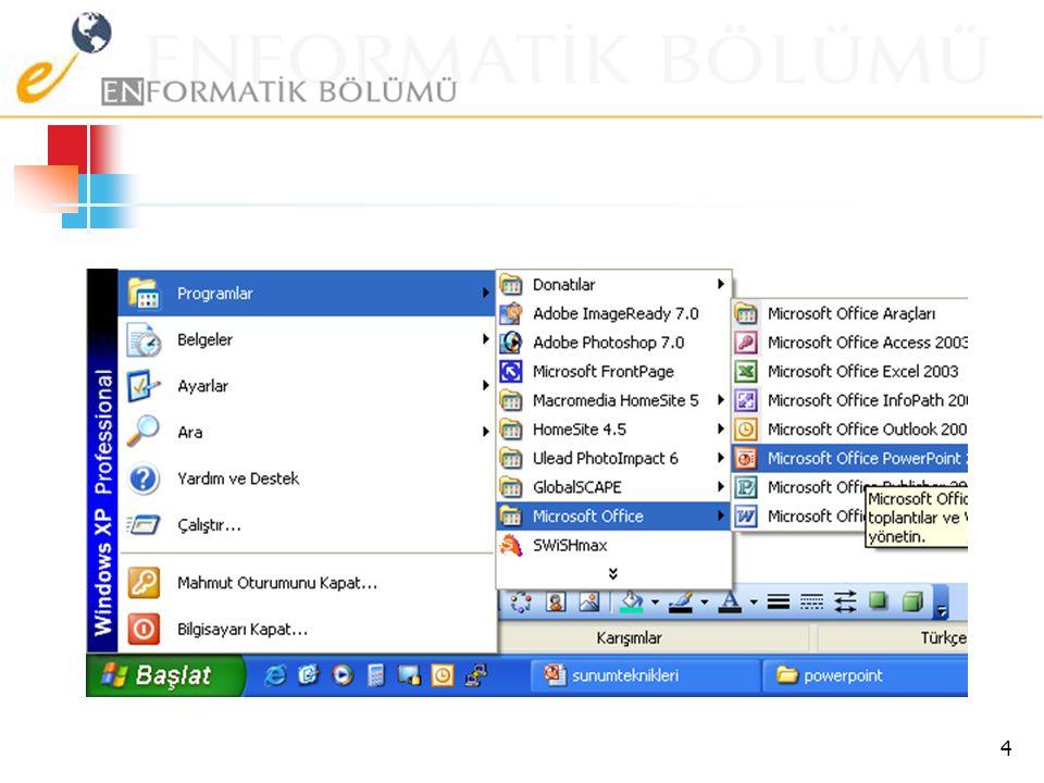 Sunu Programları  Microsoft Office  Powerpoint  OpenOffice  Impress (Ücretsiz) 3