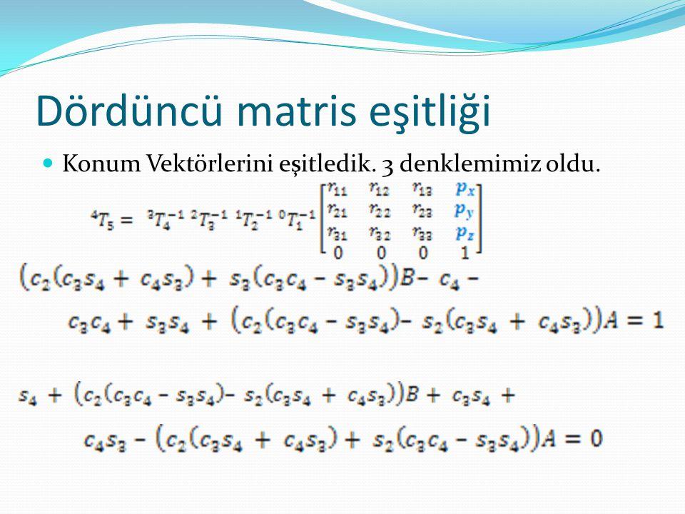 Matlab ile örnek uygulama  (11,17,9) cm koordinatlarını veren açıları bulalım.
