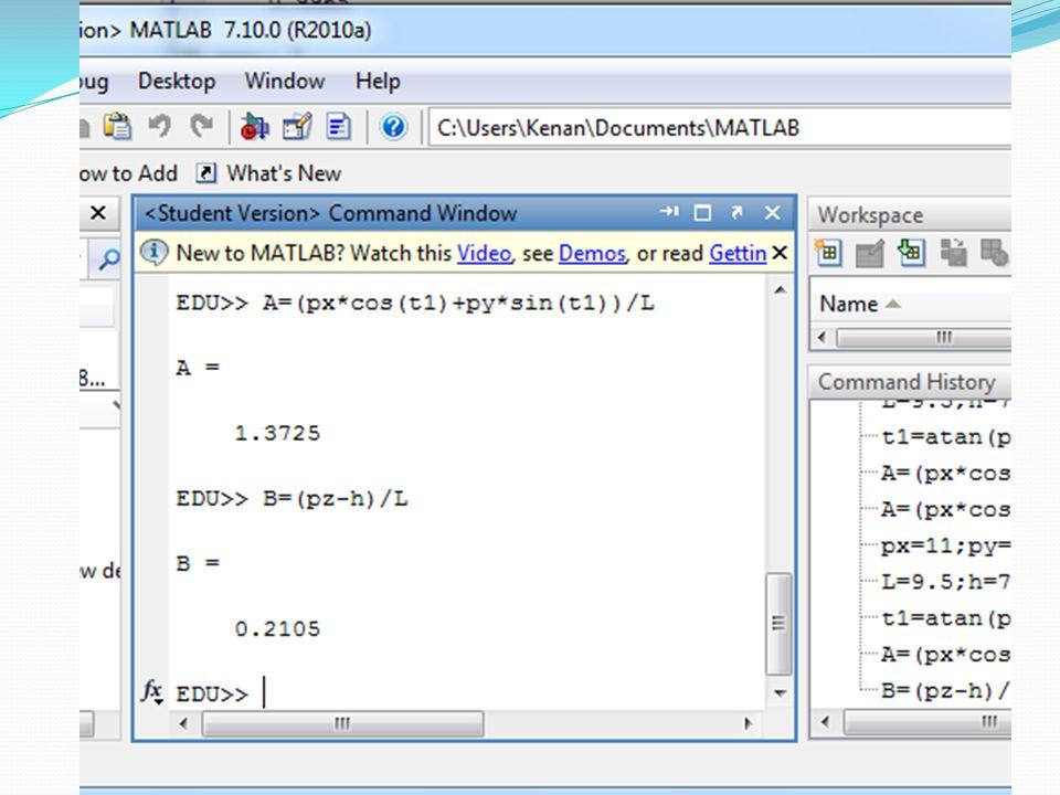  Çözümde Matlab'ın fsolve fonksiyonu kullanılmıştır.