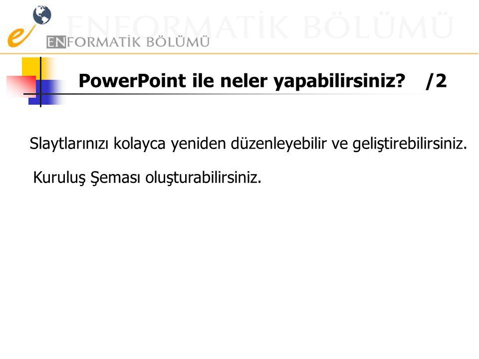 PowerPoint ile neler yapabilirsiniz? PowerPoint'in önceden hazırlanmış şablonlarını olduğu gibi kullanabilir veya onları kendi amaçlarınız için değişt
