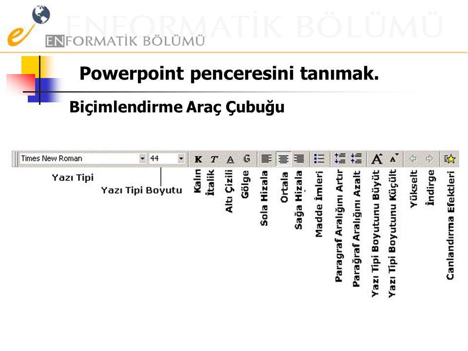 Powerpoint penceresini tanımak /2 Standart Araç Çubuğu